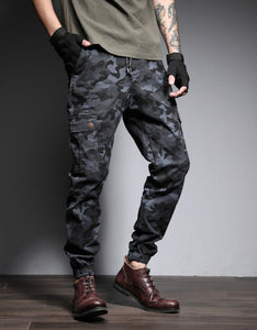 camouflage side pockets chic overall pants