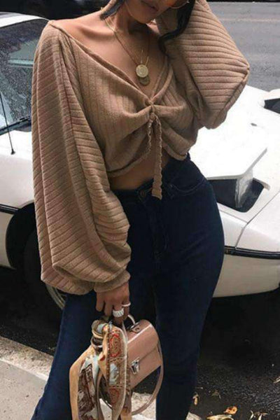 Multi-way Puff Sleeve Crop Top