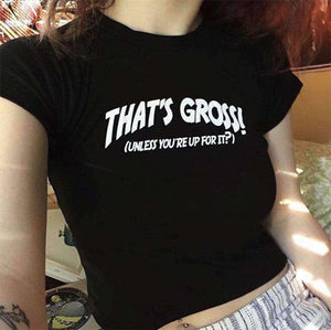 Dat ass Gross Print Short Sleeve T-Shirt - Lupsona