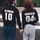 KING 10 and QUEEN 04 Couple Sweatshirt