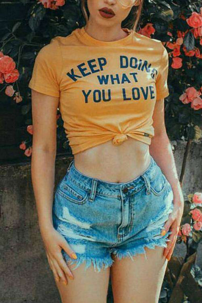Keep Doing What You Love Basic T-shirt - Lupsona