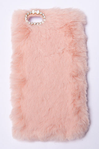 FLUFFY PHONE CASE - PINK