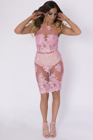 ORELLA PINK SHEER CO-ORD
