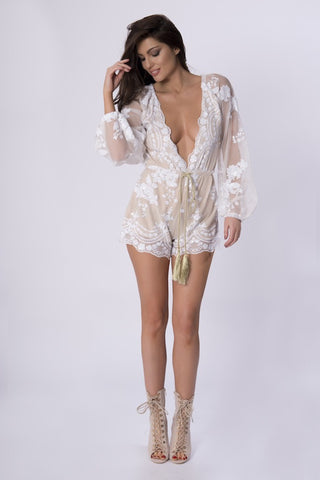 ASPEN EMBELLISHED PLAYSUIT