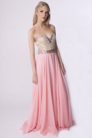 LUMIANA LONG PINK DRESS