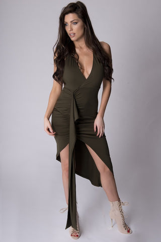 OILIA KHAKI DRESS