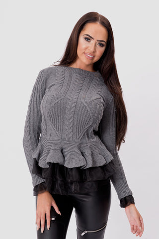 YAZMIN TOP - GREY