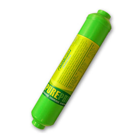 Alkaline inline filter cartridges