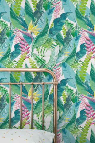 Greenery home decor tropical style wallpaper