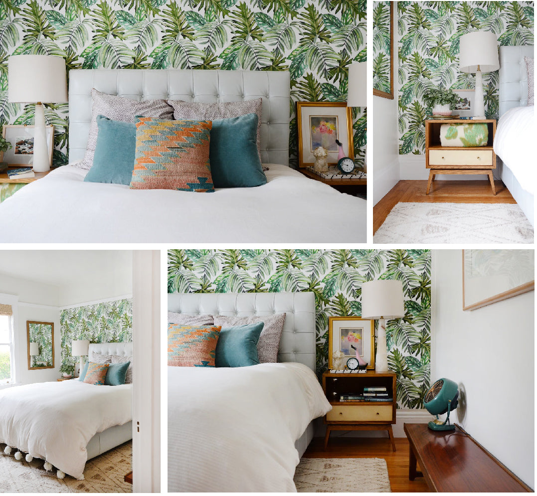 Greenhouse Apartment + Bedroom Makeover with Tropical ...