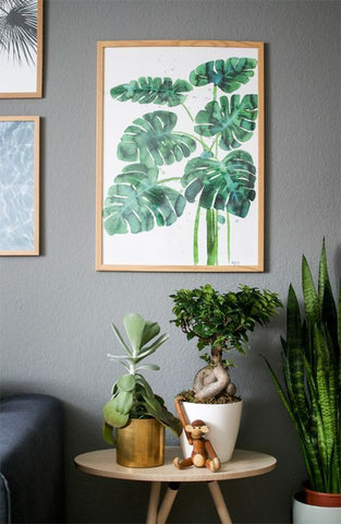 Greenery home decor paintings