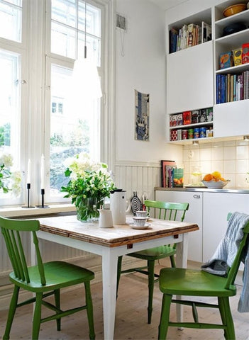 Greenery kitchen decor chairs