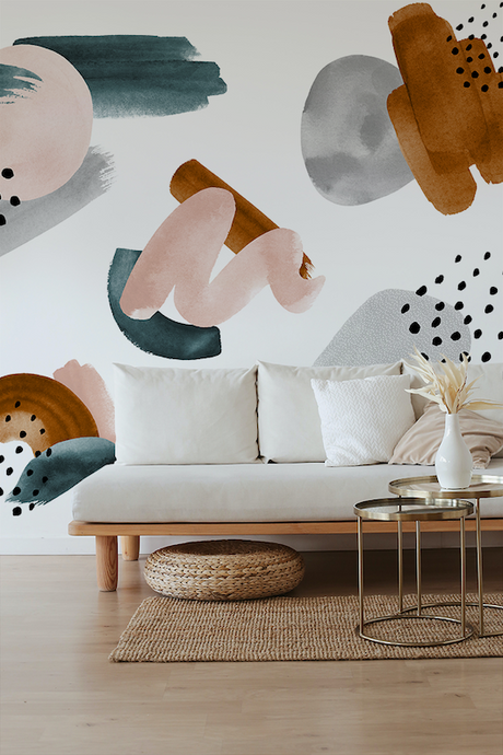 Abstract shapes wallpaper mural