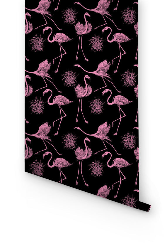 FLAMINGO removable WALLPAPER for bedroom