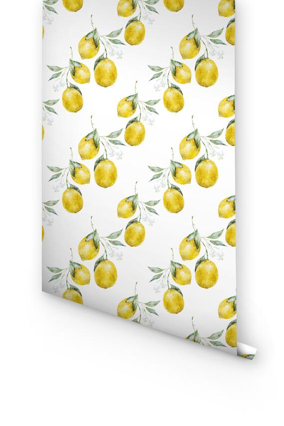 LEMON REMOVABLE WALLPAPER