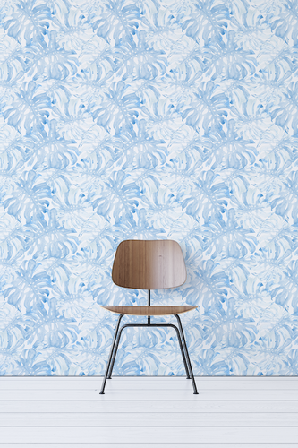 Blue Bedroom Peel And Stick Wallpaper
