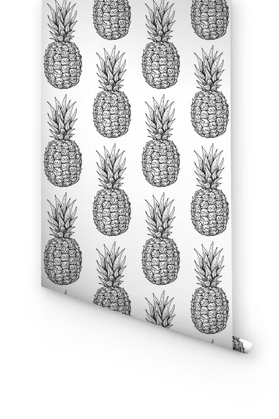 Pineapples removable wallpaper