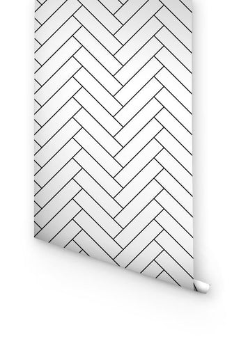 Minimal herringbone wallpaper