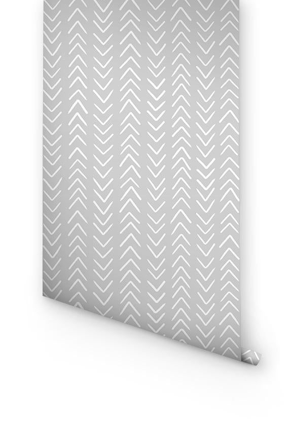 GREY CHEVRON WALLPAPER FOR BOYS ROOM