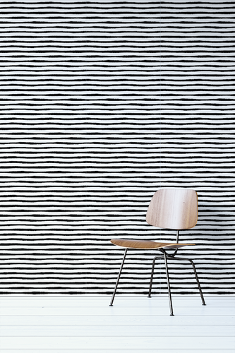 Black And White Stripes Removable Wallpaper