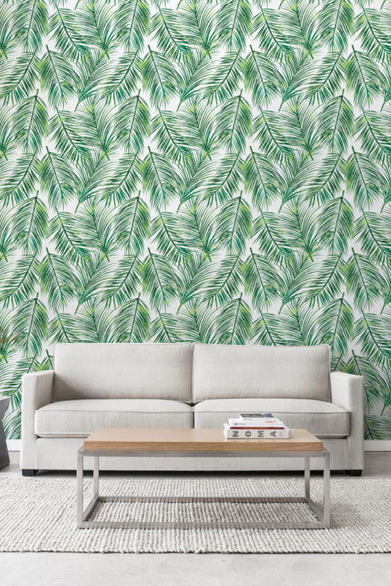 PALM LEAVES REMOVABLE WALLPAPER FOR OFFICE