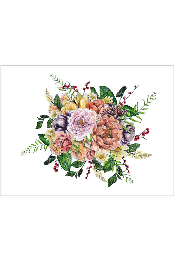 EVE FLORAL WALL MURAL FOR NURSERY