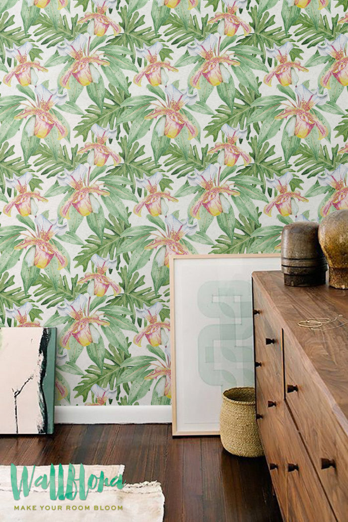 TROPICAL REMOVABLE WALLPAPER FOR DINING ROOM
