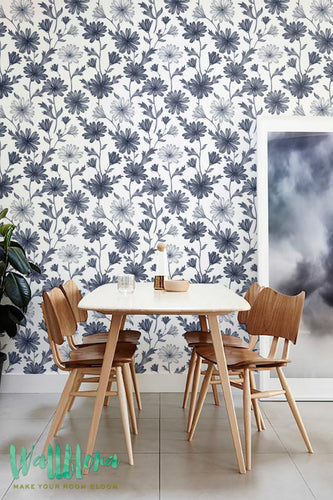 GERBERA PATTERN REMOVABLE WALLPAPER - CAPTURE THE ESSENCE OF GERBERA FLOWERS