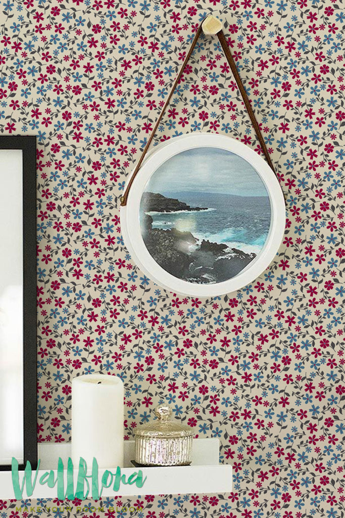 Daisies Patterns Removable Wallpaper