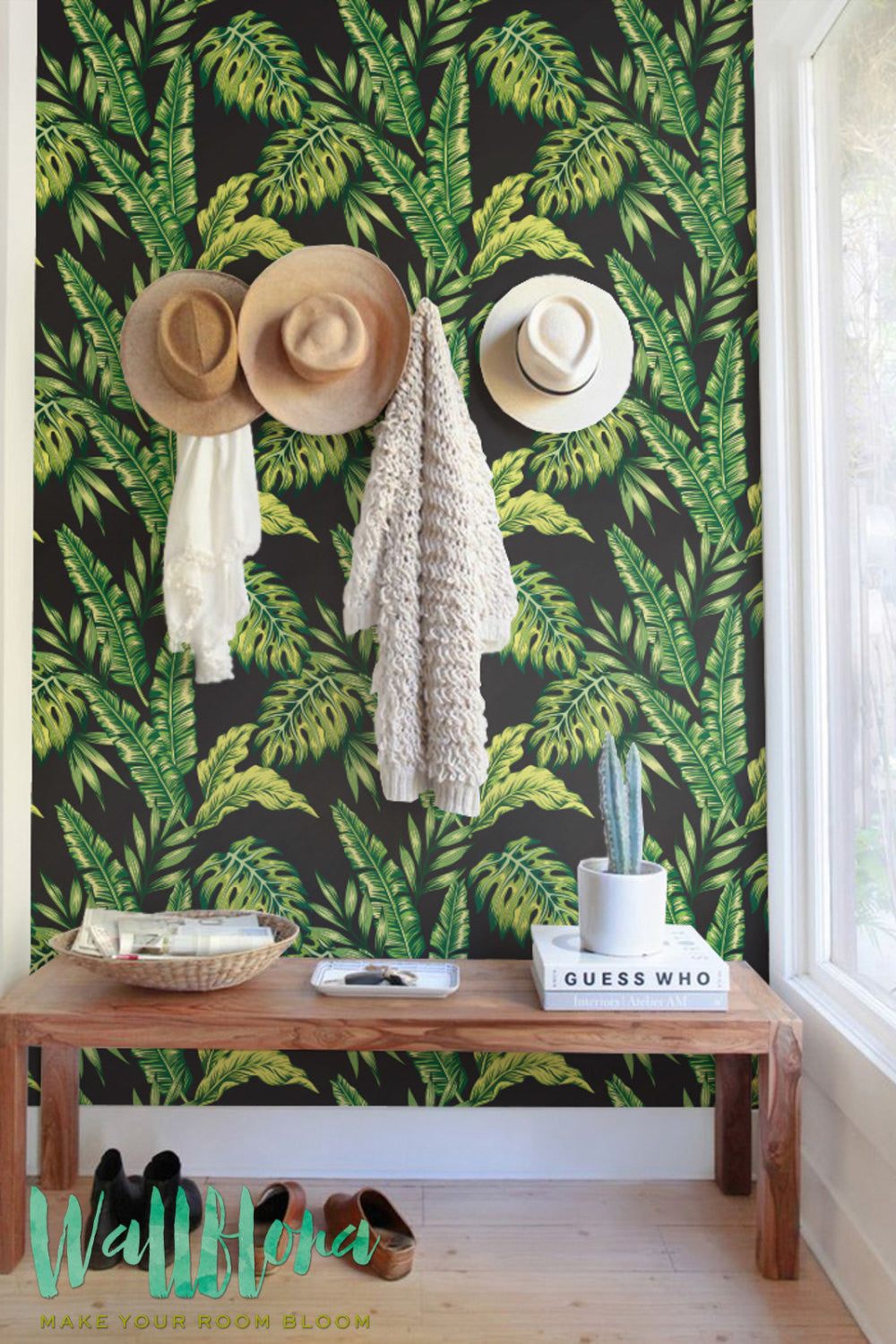MODERN TROPICAL REMOVABLE WALLPAPER