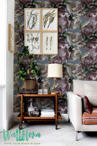 DARK FLORAL REMOVABLE WALLPAPER