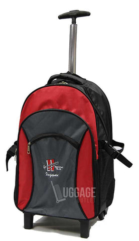 Luggage Outlet Singapore - Customised silk screen printed trolley backpack