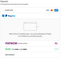 Luggage Outlet PayPal payment mode