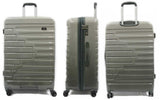 Sparkling Expandable Polycarbonate Luggage with Spinner Wheels and Recessed TSA lock - Luggage Outlet