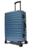 Contemporary Polycarbonate Aluminium Frame Luggage with 8 Spinner Wheels Safe Skies TSA Lock - Luggage Outlet