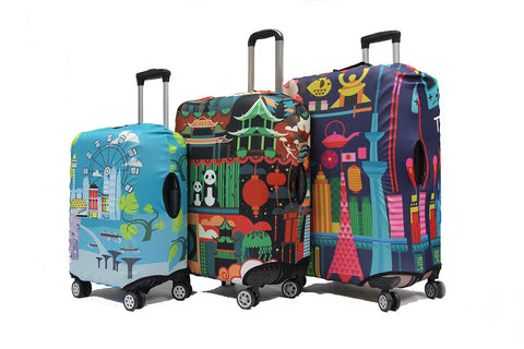 Cosmopolitan Elastic Luggage Cover - Luggage Outlet