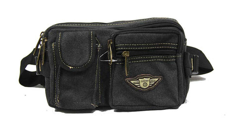 Weatherworn Canvas Waist Pouch - Luggage Outlet
