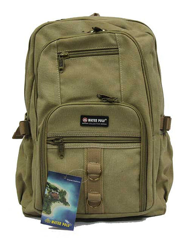 Austere Canvas Backpack School Bag - Luggage Outlet