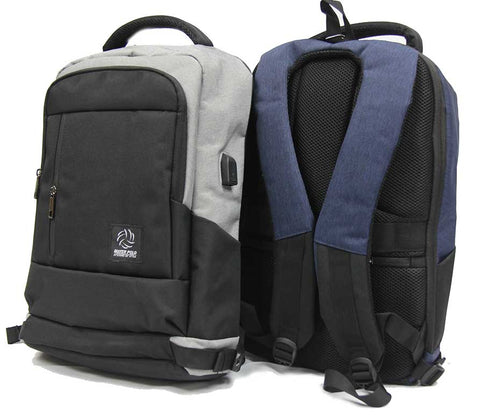 Dapper Waterproof Laptop Backpack with USB Charging port - Luggage Outlet