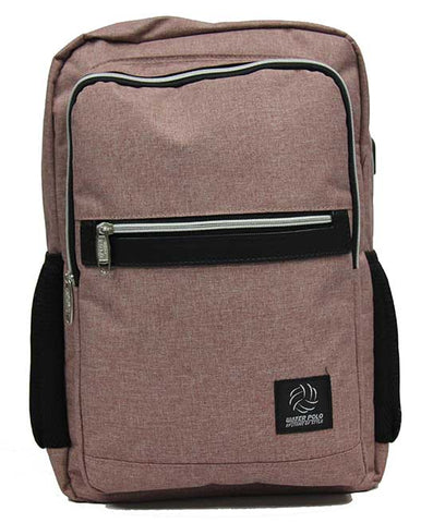 Preppy Canvas Backpack School Bag with USB Charging Port - Luggage Outlet