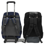 Coveted Detachable Trolley Waterproof Backpack with Spinner Wheels - Luggage Outlet