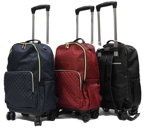Modish 8-wheel Detachable Trolley Backpack - Luggage Outlet