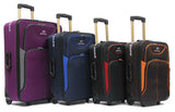 Robust Softside Expandable Fabric Luggage with 2 Cart Wheels - Luggage Outlet