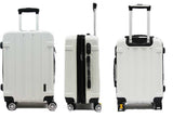 Alluring ABS Expandable Luggage with Anti-theft Zipper 8 Spinner Wheels TSA Number lock - Luggage Outlet