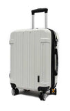 Alluring Cabin Size ABS Expandable Luggage with Anti-theft Zipper 8 Spinner Wheels TSA Number lock - Luggage Outlet