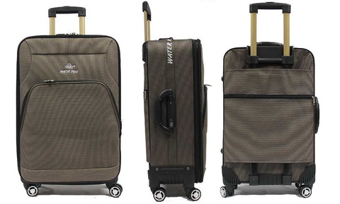 Sturdy Softside Anti-theft Expandable Fabric Luggage with Spinner Wheels - Luggage Outlet