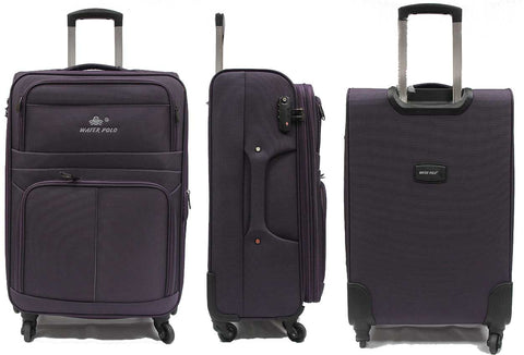 Tough Softside Expandable Luggage with 4 Spinner Wheels TSA lock