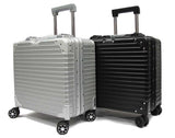 Executive Aluminium Frame Cabin Size Polycarbonate Luggage with 8 Spinner Wheels TSA Lock - Luggage Outlet