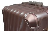 Wavy Polycarbonate Aluminium Frame Luggage with TSA Locks - Luggage Outlet