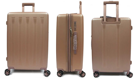 Strolling Polycarbonate Expandable Luggage with Spinner Wheels and Recessed Safe Skies TSA Lock - Luggage Outlet